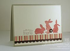 handmade card: Ears to You Friend Card ... would make a clean and simple Easter Card with a change of sentiment ... Stampin' Up!