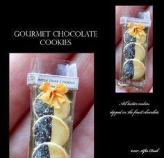 Luxury Chocolate Cookies - Artisan fully Handmade Miniature in 12th scale. From After Dark miniatures.