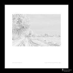 awesome Fotografie »Spuren im Schnee«,  #Schwarzweiß #Winter