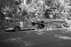 I know fire fighters probably loved this old fire truck. They could attack a fire from any angle.