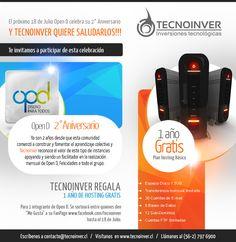 Concurso Aniversario Open D. Auspiciador Tecnoinver. Agosto 2013