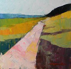 JOSE TRUJILLO Abstract IMPRESSIONISM Road Contemporary Landscape CANVAS Board | eBay