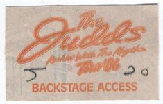THE JUDDS ROCKIN' WITH THE RYTHMN TOUR 1986 BACKSTAGE PASS KITCHENER CANADA RARE Safely Stored For Over 33 Years   This Will be a great Gift for any Fan  Shipping will be within 2 days of your payment  All Sales are Guaranteed Satisfaction  We are Fans so we know what fans Expect  THEMIGHTYFINWAH Just Letting You Know, Saved Items, All Sale, Backstage, Great Gifts, Fans, Canada, Tours