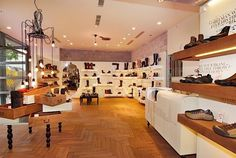 I love the smell of shoe stores!