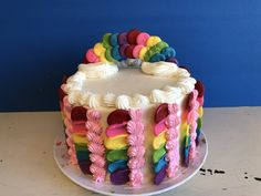 Fun and colorful cake for any special occasion. Are used a variety of candy melts to create this unique cake design. I hope you try it find it on my YouTube channel or on my Blog at today's creative food