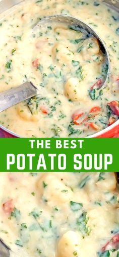 The Best Potato Soup…a thick , creamy, hearty soup that's absolutely delicious! Serve this delicious soup with homemade bread or rolls and sit back and enjoy Fall. potato al horno asadas fritas recetas diet diet plan diet recipes recipes Homemade Potato Soup, Slow Cooker Potato Soup, Ham And Potato Soup, Creamy Potato Soup, Healthy Potato Soup, Potato Dinner, Potato Soup Vegetarian, Healthy Fall Soups, Crock Pot