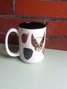 Vintage Looking Marvel Super Heros Mug. $15.00, via Etsy.