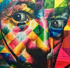 Eduardo Kobra - Dali detail, Miami, 2014 (LP)