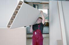 BIA Systeemwanden - Spanell - lichte scheidingswand met kartonnen kern