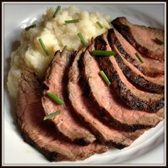 Garlic Soy Marinated Grilled Flank Steak  1 1/2 lb flank steak  1/4 c soy sauce – low sodium  4 cloves garlic – grated  1/4 c balsamic vinegar  2 tbs worchestershire sauce