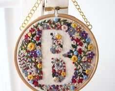 Floral Embroidery by Roberta M Grace. Instagram: @RobertaMGrace