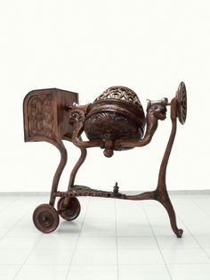 WIM DELVOYE. Brico, 1990. Carved and varnished wood, 71 x 174 x 160 cm