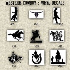 XSMALL COWBOY Vinyl Decals Car Decal Western Stickers - Cowboy custom vinyl decals for trucks