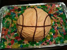 Basketball pinata cake!