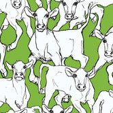 Found it at Wayfair - Iltavilli Wallpaper  Green cows and Pink Cows