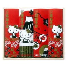 Hello Kitty three major buckwheat wooden box assortment Sanrio online shop - official mail order site
