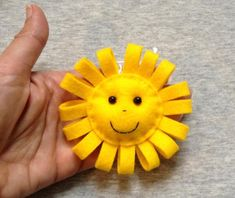 Sun Felt Ornaments - Sun Decor - Cute Sun Hanging - Handmade Felt Toys - Summer Decor - Yellow Bright and funny felt heart decorations. You can hang these little pieces of LOVE anyplace you want. It will be a perfect gift or decoration:) Felt Crafts Diy, Foam Crafts, Handmade Felt, Handmade Flowers, Rakhi Design, Felt Wreath, Felt Sheets, Baby Sewing Projects, Baby Hats Knitting