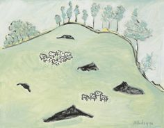 Milton Avery (American, 1885-1965), Spring Pasture, 1961. Oil on canvasboard, 22 x 28 in.