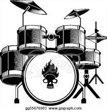 how to draw a set of drums