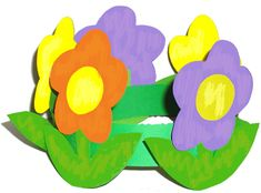 Imprimer et colorier une couronne de fleurs