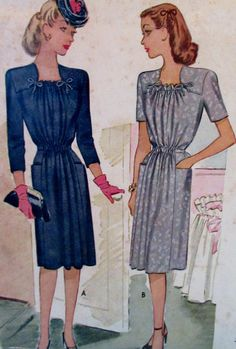 112fcd1a3b9f4 Vintage McCall 1944 Misses Maternity Dress Pattern Gathered Front, Shirred,  Pattern #5903 Size 14 Bust Size 32 **Epsteam