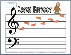 A treble clef worksheet that helps kids be fast at note identification. Be sure to read the post about how to use this fun activity.