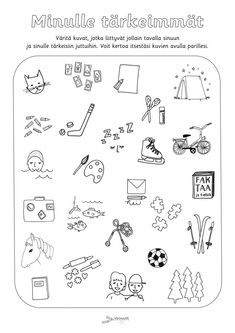 Tutustumistehtävät - Värinautit Kindergarten, Math Equations, Words, School, Fle, Kindergartens, Preschool, Preschools, Horse