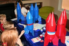 "Rocket ""blast off"" for a rocket birthday party"