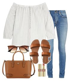 """""""Ugh I want it to be sunny"""" by preppygirlusa ❤ liked on Polyvore featuring Yves Saint Laurent, Madewell, Aéropostale, J.Crew and Tory Burch"""