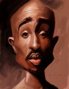 tupac by devonneamos digital art drawings paintings people portraits ...