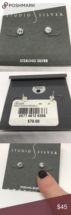 Studio Silver Sterling Silver Studs Brand New With Tags Studio Silver Jewelry Earrings