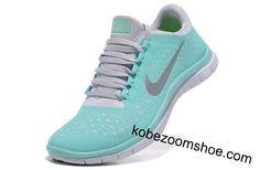 Tiffany Blue Nike Free 3.0 V4 Womens Blue White Silver Sneakers