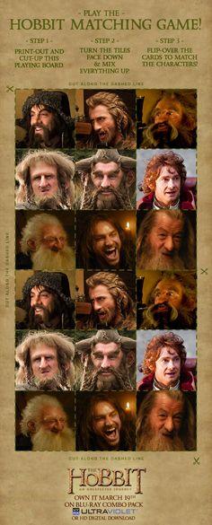 Hobbit Kid Activities: Hobbit Matching Game