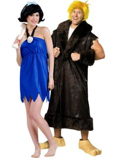betty rubble and barney rubble flintstones couples costumes party city - Flinstones Halloween
