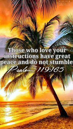 Those who love your instructions have great peace and do not stumble. {Psalm 119:165}