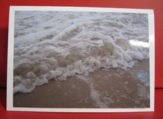 Handmade Card Any Occasion - Photo of waves and sand