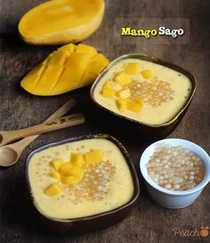 Mango Sago is the perfect dessert to cool you down on a hot Summer day. It's creamy and refreshing! Pinoy Dessert, Filipino Desserts, Indian Desserts, Sweet Desserts, Delicious Desserts, Chinese Desserts, Filipino Food, Cambodian Desserts, Thai Dessert