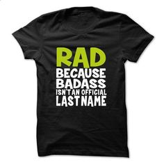 RAD BadAss - #sorority tshirt #grey hoodie. SIMILAR ITEMS => https://www.sunfrog.com/Valentines/RAD-BadAss.html?68278