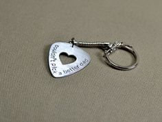 Could not pick a better dad sterling silver guitar pick keychain