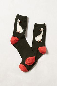 Duck Duck Socks #anthropologie