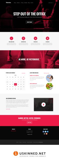 Victorious is a new theme powered by coming soon to uSkinned - Themes for Umbraco. Web Design Black, Corporate Website, Landing Page Design, Website Ideas, New Theme, Page Layout, Victorious, Jazz, Diagram