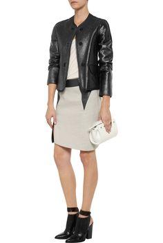 Vanessa Bruno Black Coated Wool blend Jacket Size UK 10, EU 36, US 6,  FR 38