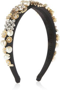 Dolce & Gabbana | Embellished silk-satin headband