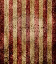 Grunge Red White Stripes - Oz Backdrops and Props