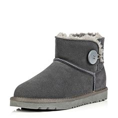 Ocamius Cool Suede Fashion Snow Boot Lady Winter Booties Grey 6 DM US *** To view further for this item, visit the image link.