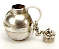 Antique EDWARDIAN Silver Charm Canteen FLASK Opens 1903 from m4gso on Ruby Lane