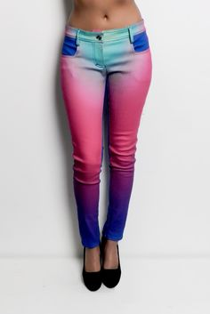 Gradient denim pants..cool..but I dont know if I could pull these off, or where I would wear them hah