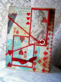 Humorous Mixed Media card handmade for wedding by BennBooCreations, $7.85
