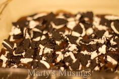 Oreo Volcano Brownie (made with ice cream!) - Marty's Musings