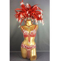 Samba Carnivel Bra Bottom Samba Costume Frame Bra by bellyEshop Wedding Headdress, Feather Headdress, Headpiece, Rio Carnival Costumes, Carnival Outfits, Caribbean Carnival Costumes, Bustiers, Brazil Costume, Carnival Outfit Carribean